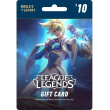 USD10 League of Legends Game Card 英雄聯盟 1380 LOL RP 儲值卡 美服
