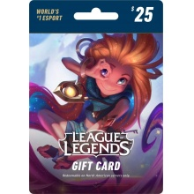 USD25 League of Legends Game Card 英雄聯盟 3500 LOL RP 儲值卡 美服