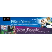 威力導演17 +螢幕錄影4 軟體 CyberLink PowerDirector 17 Ultra + Screen Recorder 4	組合包